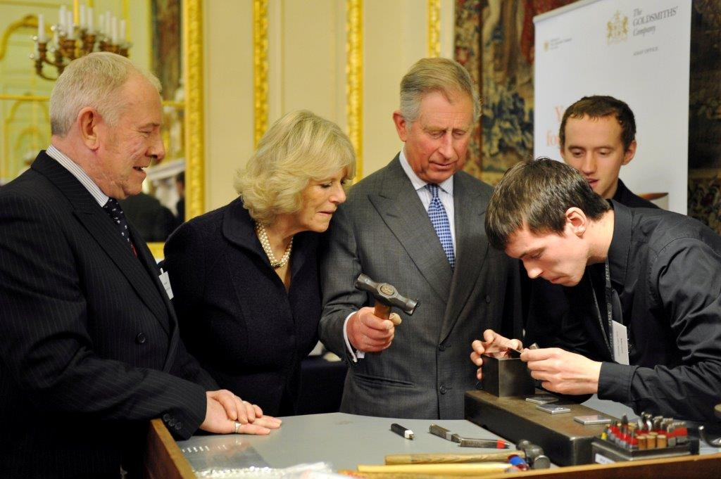 Prince Charles visits Goldsmiths' Hall and meets our apprentices, February 2011