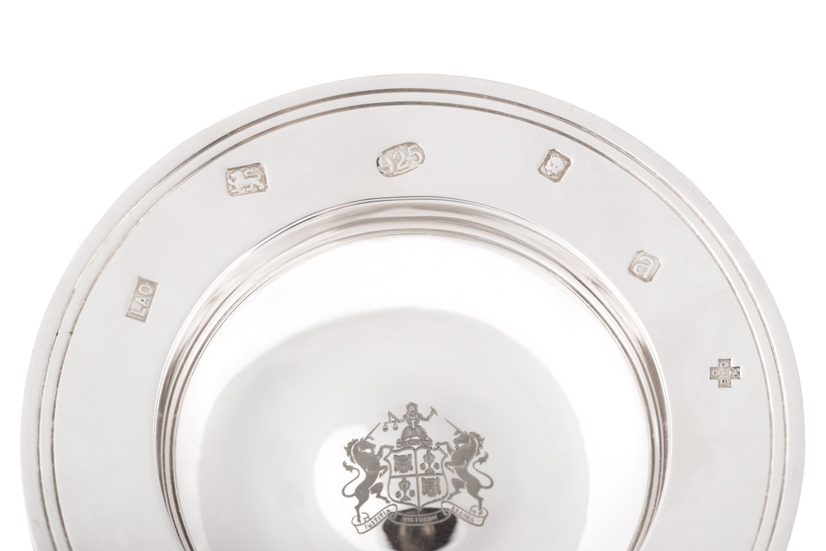 Display marks on a silver plate
