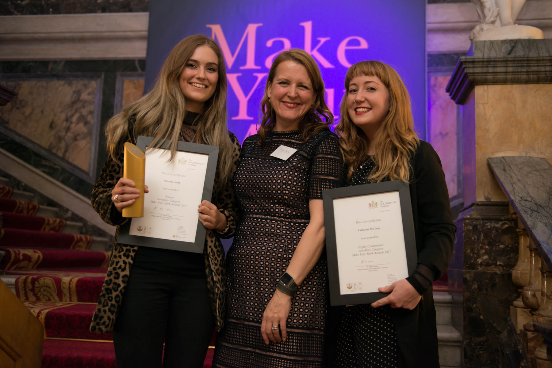 Charelle, Harriet Kelsall and Cat - winners in 2017