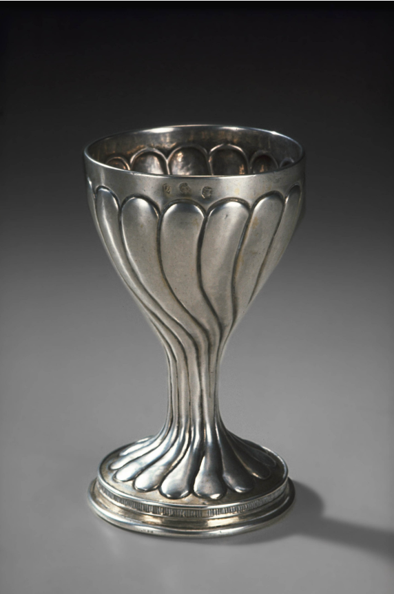 Cup 1493. Collection: The Worshipful Company of Goldsmiths'. Silver, parcel girl traces. Measurements: Height 13.7cm Maker's mark: an escallop below a baton.